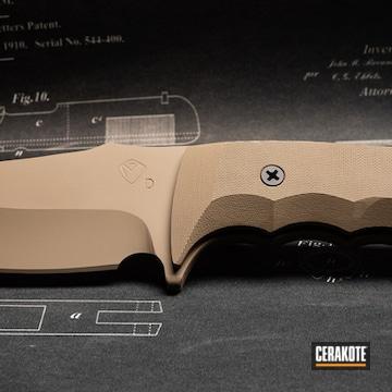 Cerakoted Fixed Blade Knife Cerakoted In H-267 Magpul Flat Dark Earth