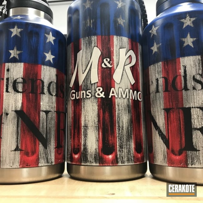 Cerakote AMerican Flag Finish using H-146, H-167, H-140 and H-171