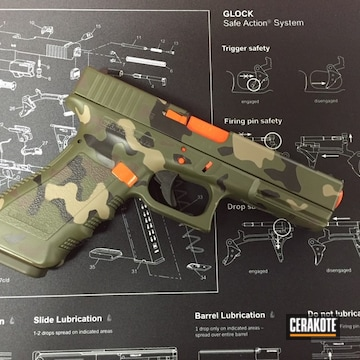Cerakoted Cerakote Multicam Finish Using H-136, H-265, H-258, H-236 And H-128