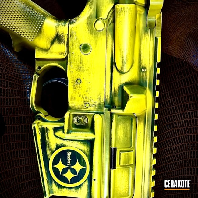 Steelers Themed Cerakote Finish using H-146 and H-144