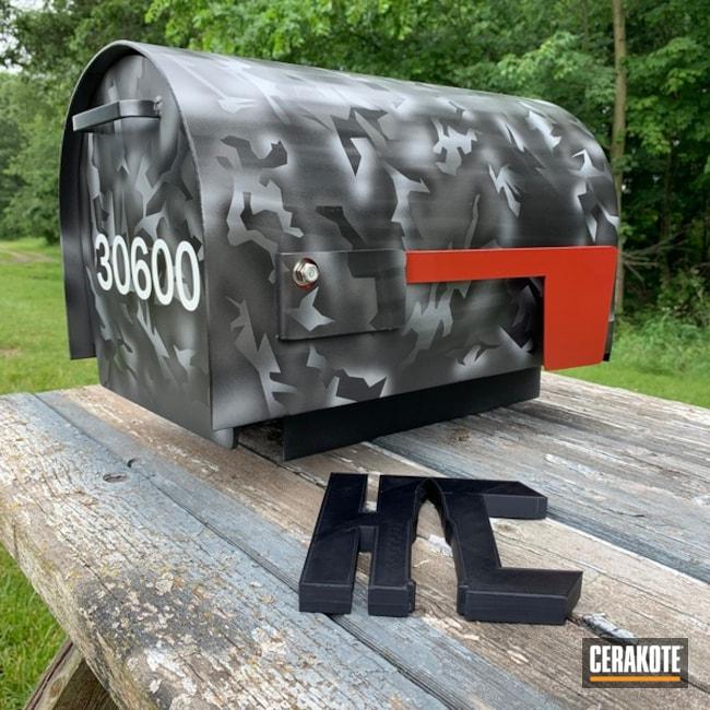 Cerakoted: Home,USMC Red H-167,Tungsten H-237,Crushed Silver H-255,Armor Black H-190,MATTE ARMOR CLEAR H-301,More Than Guns,Custom Mailbox,Splinter Camo