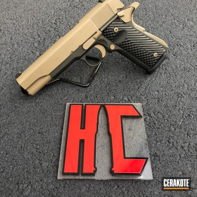 Two Toned Colt 1911 Handgun using H-146 and H-265