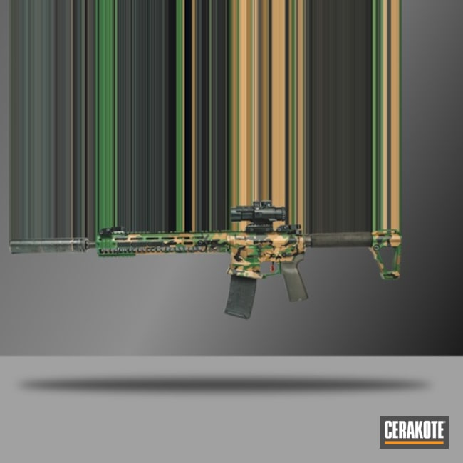 m81 Cerakote Camo Finish using H-190, H-296, H-30372 and H-308
