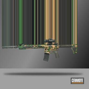 Cerakoted M81 Cerakote Camo Finish Using H-190, H-296, H-30372 And H-308