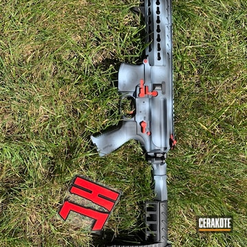 Cerakoted Sig Sauer Mpx With A Cerakote H-213, H-216 And H-234 Freehand Camo Finish