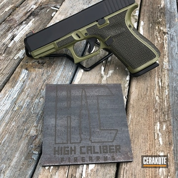 Cerakoted Two Toned Debadged Glock Handgun With A H-190 And H-189 Cerakote Finish