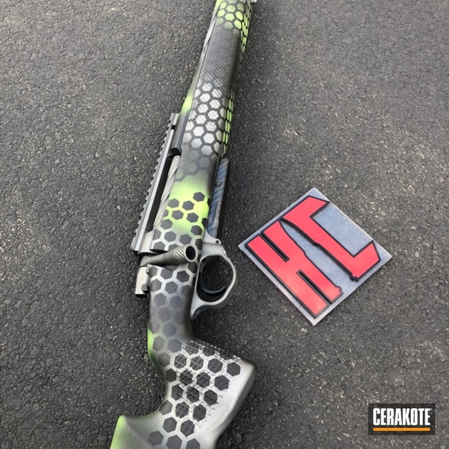 Long Range Bolt Action Rifle with Cerakote Hex Camo Finish
