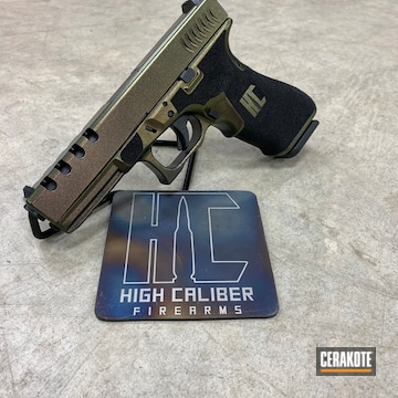 Cerakoted Custom Glock 22 Cerakoted With H-146 Graphite Black And Guncandy
