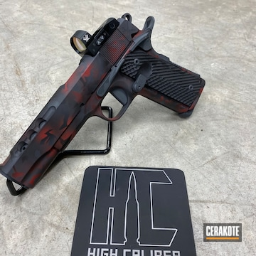 Cerakoted Rock Island Armory 1911 With A Custom Cerakote H-146, H-167 And H-304 Multicam