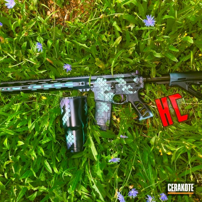 Cerakoted: SHOT,AR Custom Build,Robin's Egg Blue H-175,Bright Purple H-217,Wild Purple H-197,Mermaid,Mermaid scale,KEL-TEC® NAVY BLUE H-127,Tactical Rifle,Custom YETI Cup,Custom Tumbler Cup,Matching Set