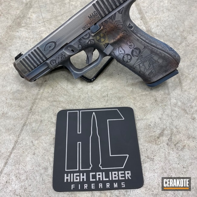 Halo Themed Glock 45 Engraving and Cerakote Finish