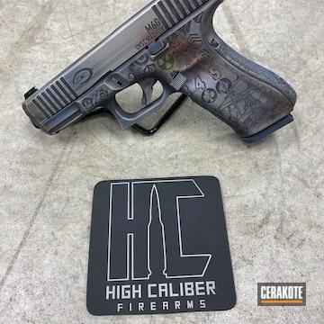 Cerakoted Halo Themed Glock 45 Engraving And Cerakote Finish