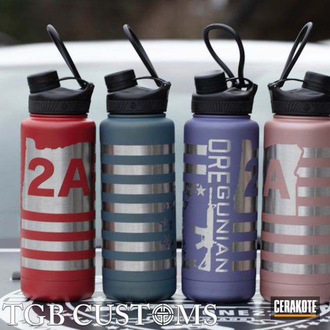 Cerakoted: Water Bottle,Lifestyle,Not Just Guns,NORTHERN LIGHTS H-315,Aluminum Water Bottle,HABANERO RED H-318,Oregunian,CRUSHED ORCHID H-314