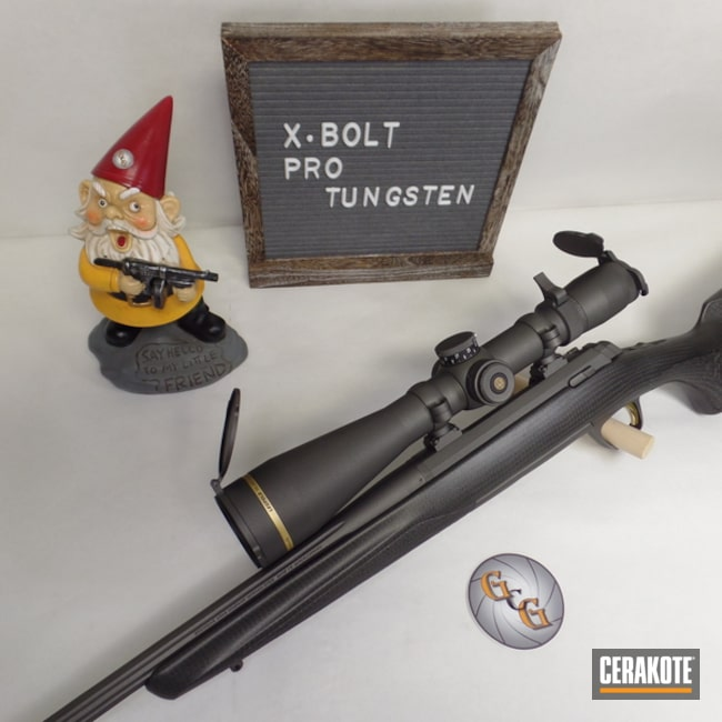 Browning X-Bolt Rifle Cerakoted in H-237 Tungsten