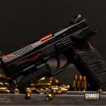 Cerakoted Cz P-09 Handgun Cerakoted With H-146 And H-167
