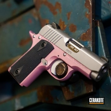Cerakoted Kimber Micro Cerakoted With H-311 Pink Champagne