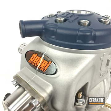 Cerakoted Shifter Kart Motor Cerakoted With H-127 Kel-tec Navy Blue