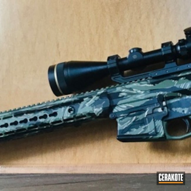 "Thumbnail image for project ""Custom Woodland Camo Cerakote Finish using H-146, H-165 and H-235"""