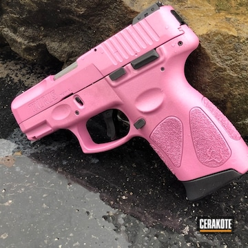 Cerakoted Taurus Pt111 G2 Handgun With A Custom Mixed H-314 And H-141 Cerakote Finish