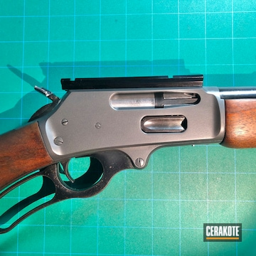 Cerakoted Marlin Lever Action 30-30 Rifle Cerakoted With H-234 Sniper Grey