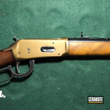 Cerakoted Winchester Model 94 Rifle Cerakote With H-148 Burnt Bronze