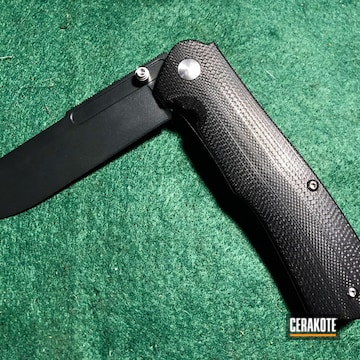Cerakoted Benchmade Folding Knife Cerakoted With H-146 Graphite Black