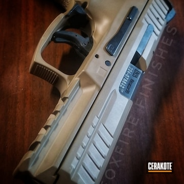 Cerakoted Heckler & Koch Handgun Cerakoted With E-170 Coyote M17