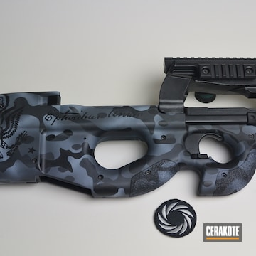 Cerakoted Fn P90 With Cerakote H-190, H-213 And H-229 Urban Multicam Finish