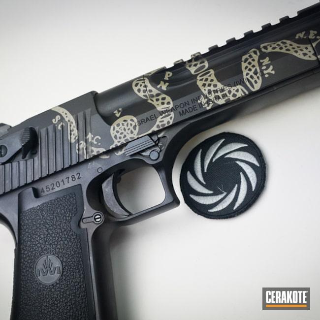 Cerakoted: S.H.O.T,Shimmer Aluminum H-158,Gadsden Flag,Burnt Bronze H-148,Armor Black H-190,Gadsden Snake,IWI,Gun Coatings