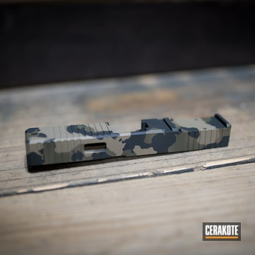 Cerakoted Glock Slide With A Cerakote H-265, H-190 And H-264 Multicam Finish