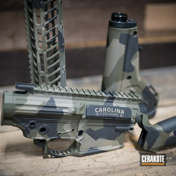 Cerakoted Upper / Lower / Handguard With A Custom Cerakote H-265, H-190 And H-264 Finish