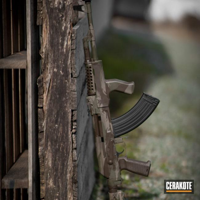Cerakoted: S.H.O.T,Grass Camo,AK-47,Gun Coatings,Flat Dark Earth H-265,Mil Spec Green H-264,AK Rifle