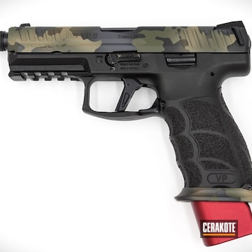 Cerakoted H&k Vp9 Handgun With A Cerakote Multicam Slide