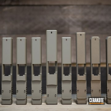 Cerakoted Assorted Pistol Slides Each With Cerakote H-148, H-261 Or H-184