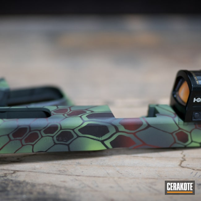 Custom Cerakote Kryptek Finish using H-216, H-190, H-168 and H-234