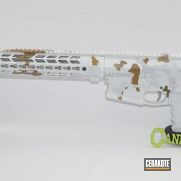 Cerakoted Aero Precision Rifle With A Cerakote H-140, H-199, H-189 And H-187 Winter Camo Finish