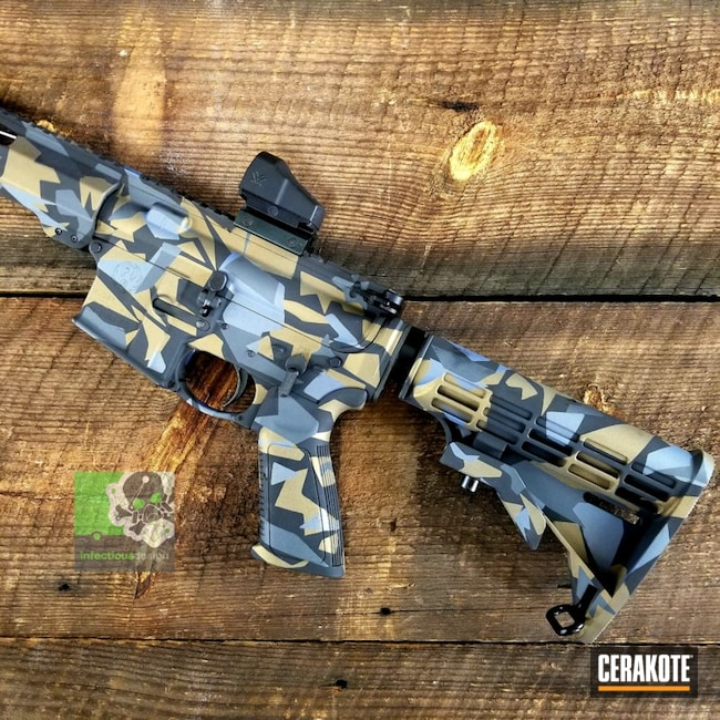 "Thumbnail image for project ""Ruger AR-15 with a Cerakote H-146, H-148, H-234 and H-315 Splinter Camo Finish"""