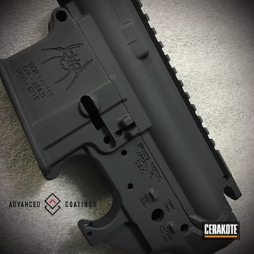 Cerakoted Spike's Tactical Upper / Lower Cerakoted With H-190 Armor Black