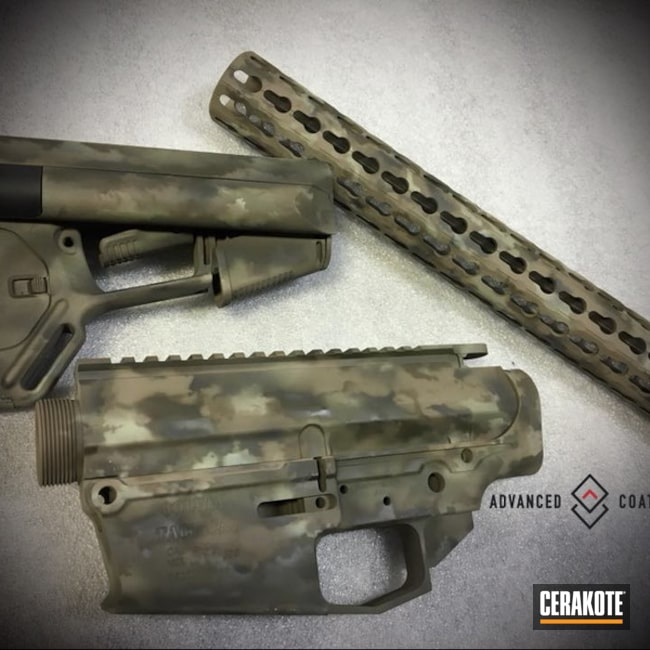 Custom Camo Finish using Cerakote H-199, H-226, H-256 and H-240