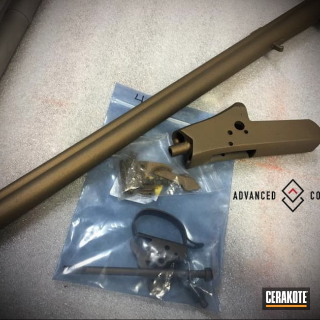 Cerakoted: S.H.O.T,Restoration,Burnt Bronze H-148,Gun Parts,Gun Coatings,Complete Restoration,Before and After
