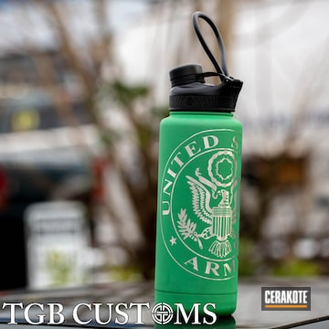 Cerakoted Us Army Themed Water Bottle Cerakoted With H-316