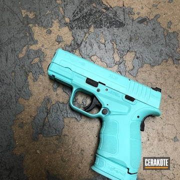 Cerakoted Springfield Xd-9 Cerakoted In H-175 Robin's Egg Blue