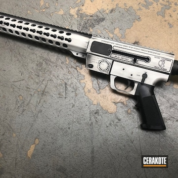 Cerakoted Distressed Star Wars Themed Rifle Using Cerakote H-190 And H-242