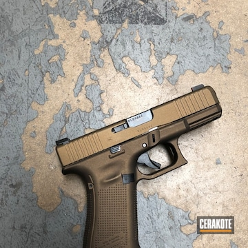 Cerakoted Glock 45 Handgun Cerakoted With H-148 And H-294