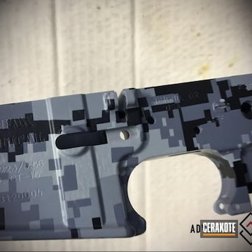 Cerakoted Ar Lower Receiver Cerakoted With Mc-161 Over Hydrographics
