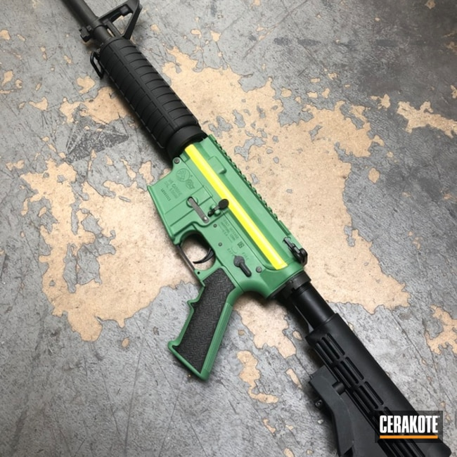 John Deere Themed AR-15 Cerakoted with H-140, H-169 and H-166