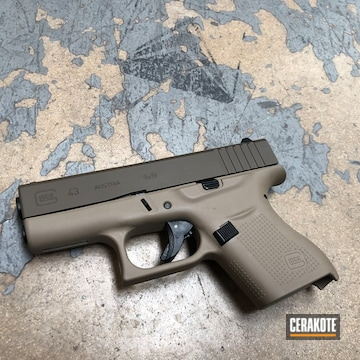 Cerakoted Two Toned Glock 43 Cerakoted Using H-267 And H-226