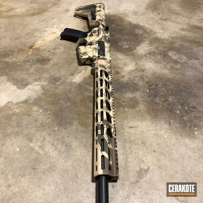 AR-15 Cerakote Kryptek using H-258, H-240 and H-199