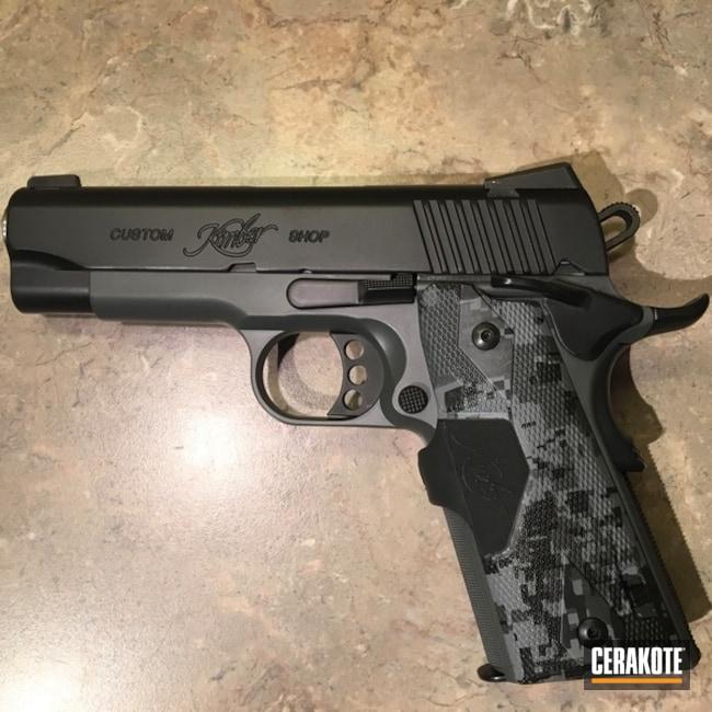 Cerakoted: S.H.O.T,BLACKOUT E-100,Kimber 1911,Kimber,Two Tone,Pistol,Concrete E-160,Concrete E-160G,Gun Coatings,1911,Kimber Pro Covert