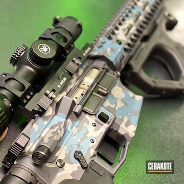 Cerakoted Matching Ar-15 And Handgun With A Cerakote H-185, H-170 And H-234 Multicam Finish